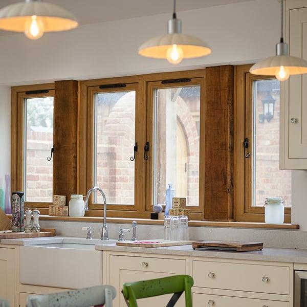 Woodgrain Effect Windows