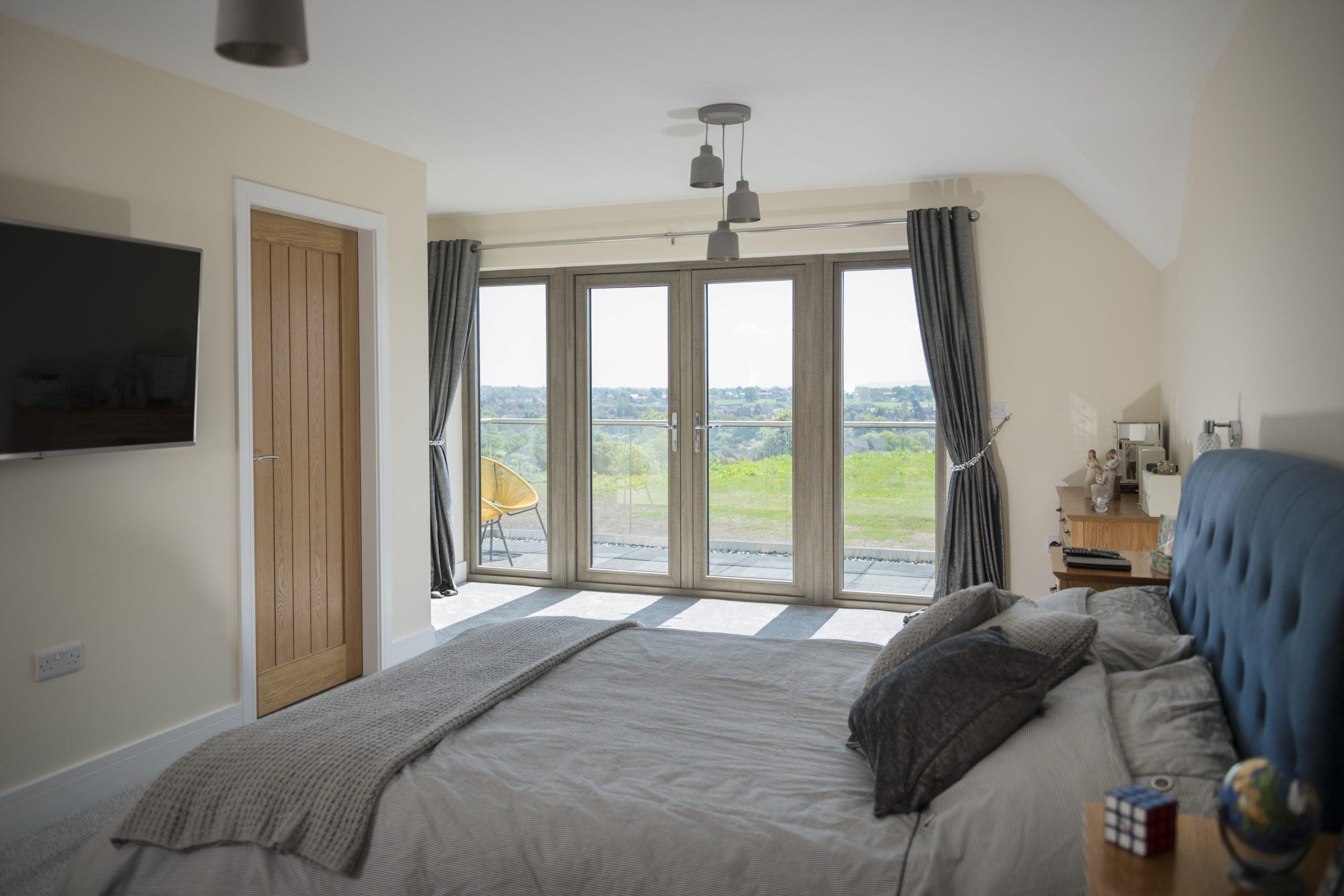 Wharfedale Window Company - Residence 2 windows in Silvered Oak