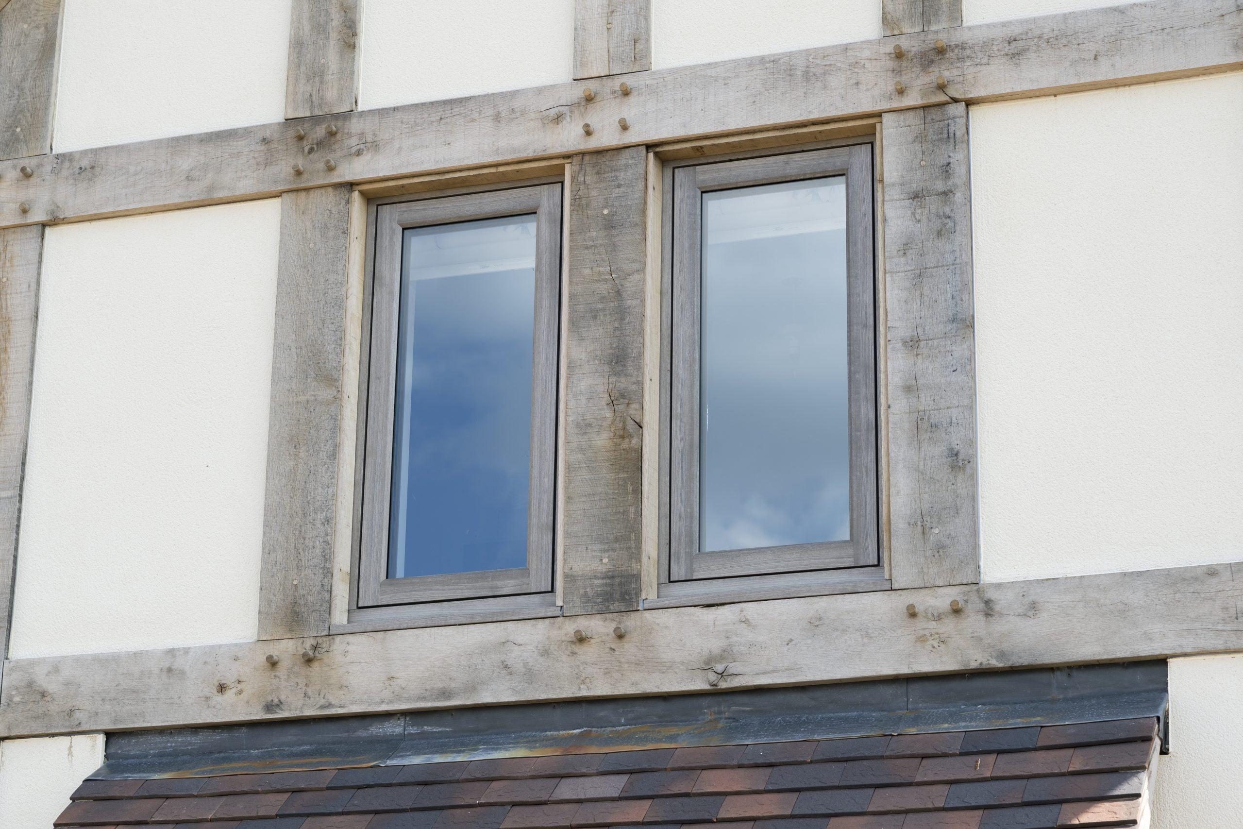 Residence 2 windows in Silvered Oak by Wharfedale Windows