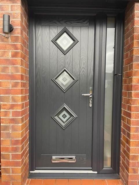 Composite entrance door - customer photo